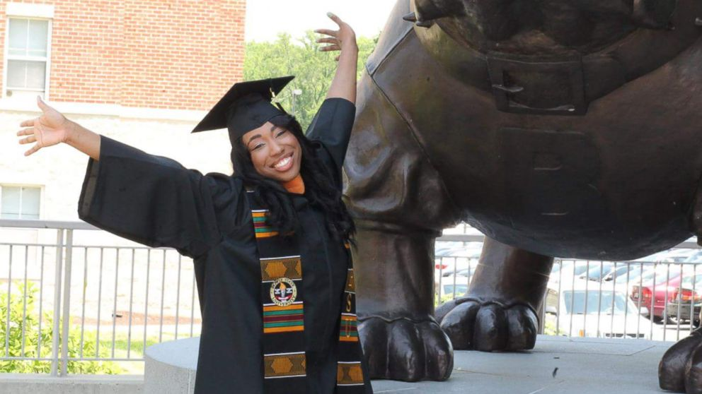 Linette Iloh is graduating with a degree in nursing from Bowie State University on May 23, 2017. She was inspired to become a nurse after having open heart surgery 10 years ago.
