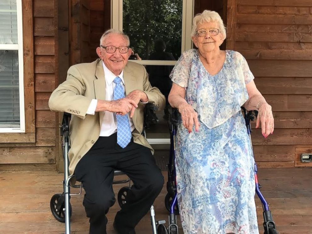 PHOTO: Paul Miller serenaded his wife Imogene Miller with Bing Crosbys Let Me Call You Sweetheart at their 70th anniversary celebration.