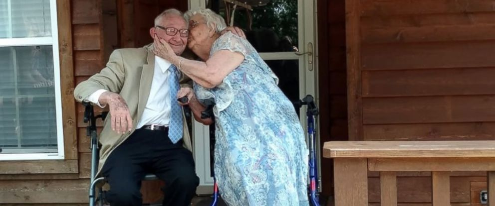 """PHOTO: Paul Miller serenaded his wife Imogene Miller with Bing Crosbys """"Let Me Call You Sweetheart"""" at their 70th anniversary celebration."""