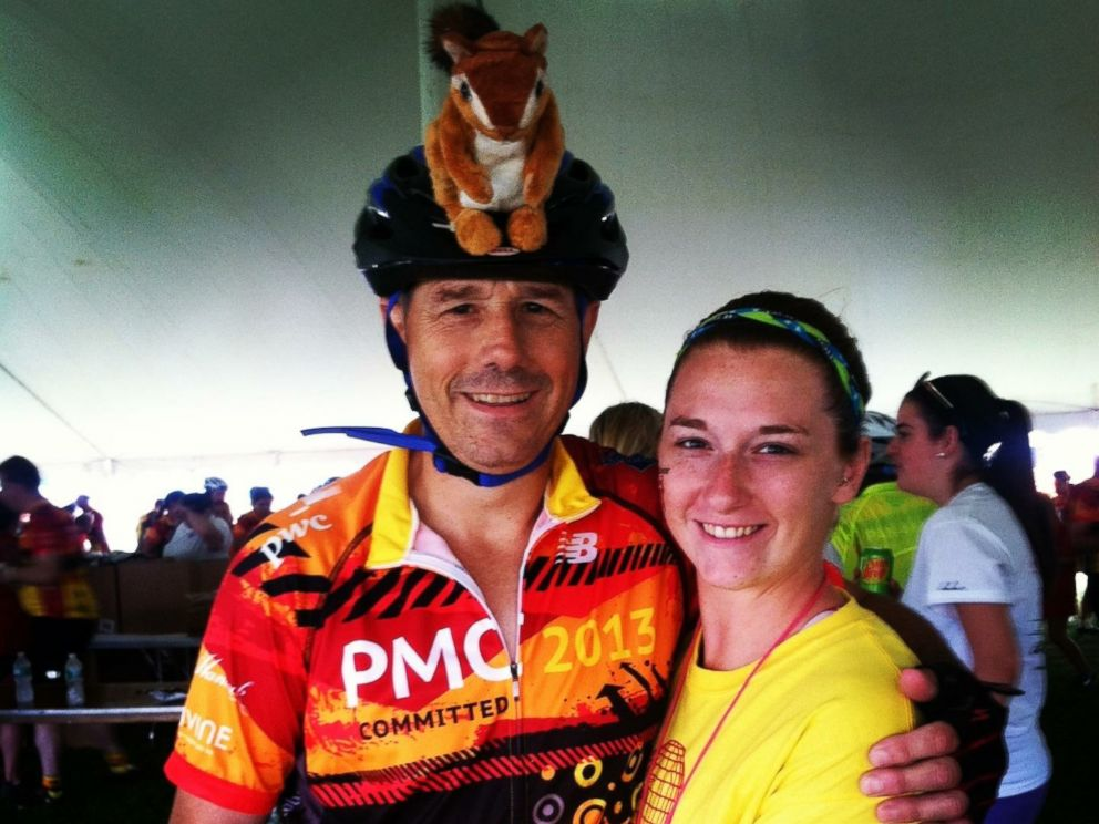 PHOTO: Peter and Jessica Otto at the 2013 Pan-Mass Challenge.