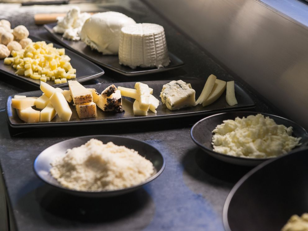 PHOTO: Some of the cheese used in the 99-cheese pizza.