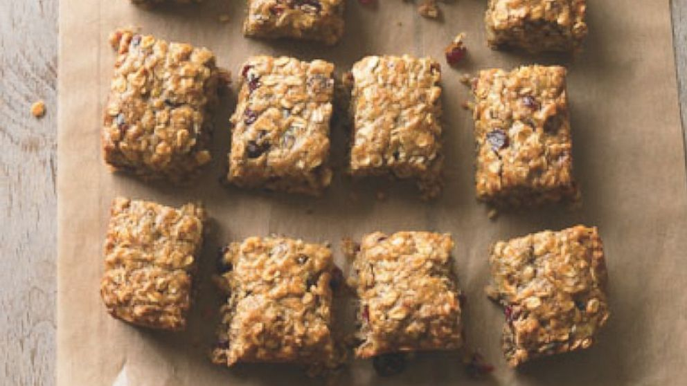 """PHOTO: Banana-Oat Energy Bars are a recipe from """"The Runners World Cookbook"""""""