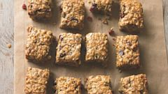 "PHOTO: Banana-Oat Energy Bars are a recipe from ""The Runners World Cookbook"""