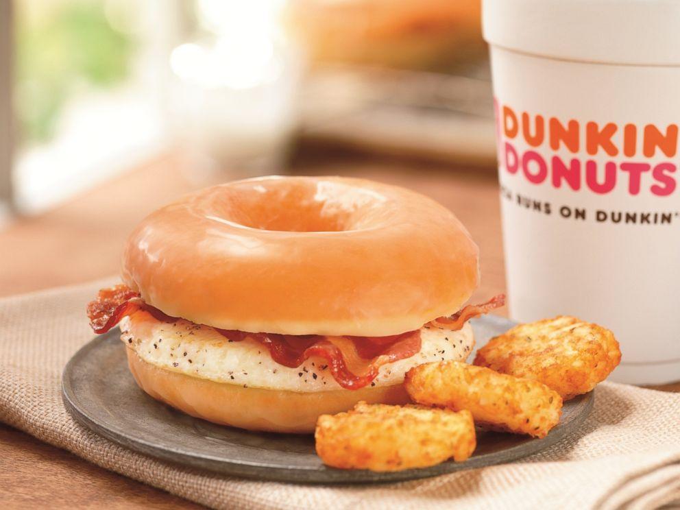 PHOTO: Dunkin Donuts Glazed Donut Breakfast Sandwich