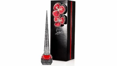 PHOTO: Christian Louboutins Starlight nail polish is decorated in 1,500 hand-applied Strass crystals.