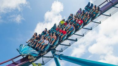 PHOTO: SeaWorld Orlando, opened MAKO, June 10, 2016, the roller coaster is the tallest, fastest and longest coaster in Orlando, Florida.