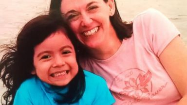 PHOTO: 8-year-old Marie Suprenant, seen here with her adopted mother Michele, wrote an open letter to the social workers who helped her after she was abused as an infant.