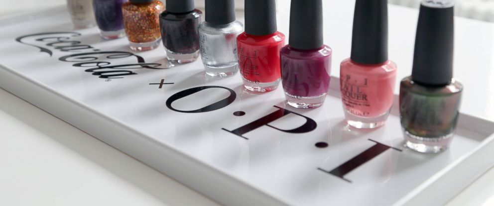 PHOTO: The Coca-Cola by OPI nail polish line.