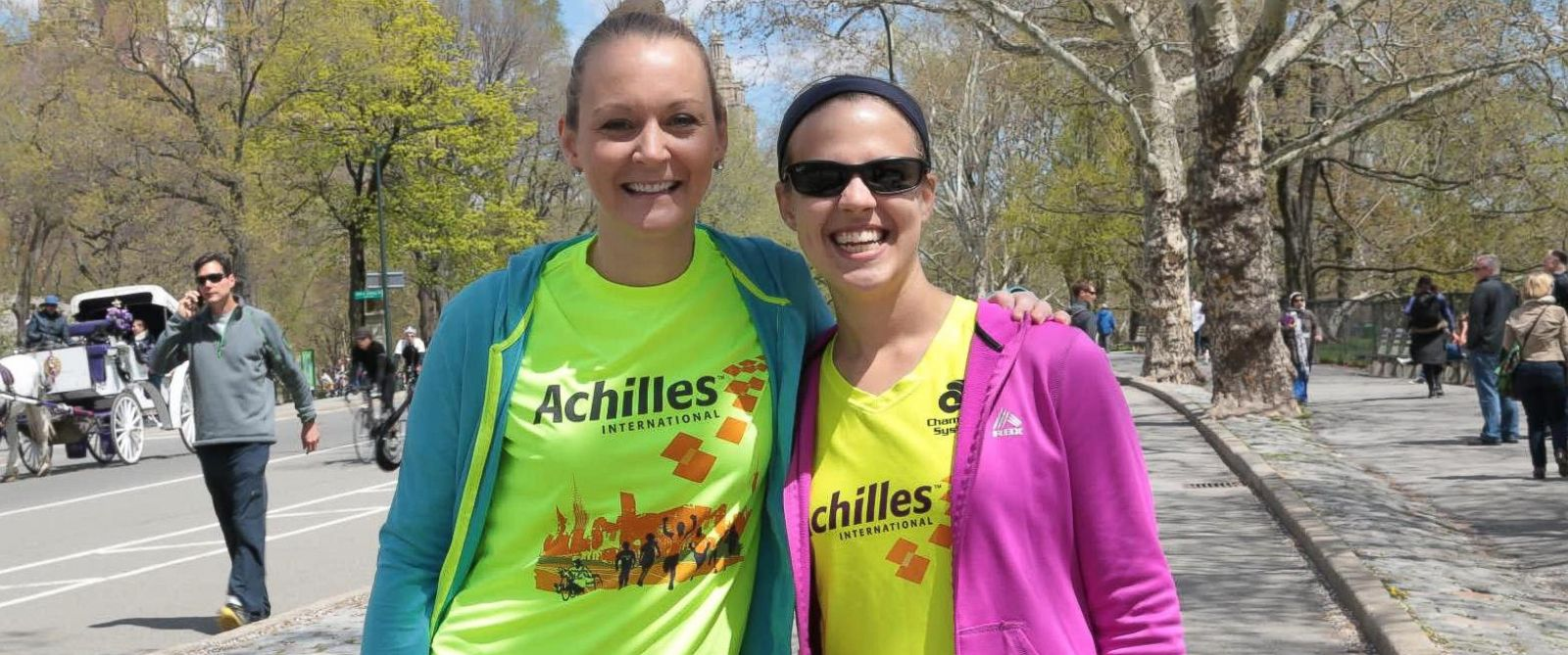 PHOTO: Athletes and cancer survivors Tessa Wehrman, 30, and Abbey Lanier, 23, compete in endurance races with non-profit Achilles International.