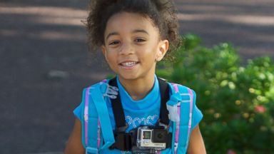 PHOTO: Adrianna Duncan, 6, wore a GoPro camera to document the beginning of her first day of school.