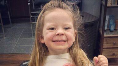 PHOTO: Three-year-old Ariana Smith voluntarily donated her hair to Locks of Love.
