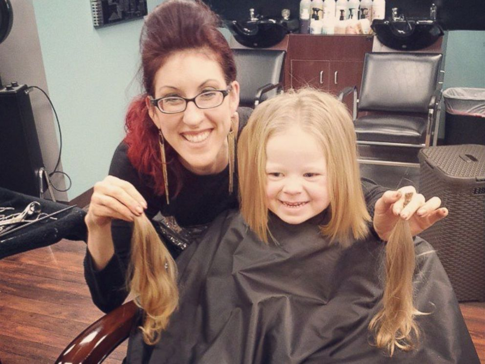 PHOTO: The toddler had 10 inches cut from her hair.