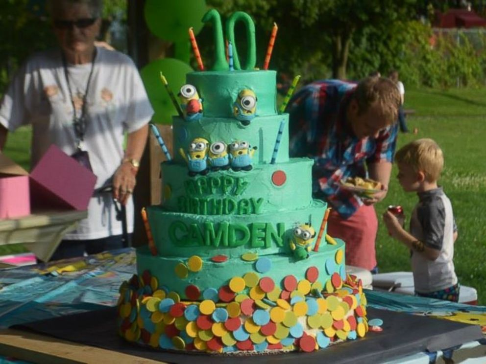 PHOTO: A Virginia bakery donated a six-tier birthday cake for the party.