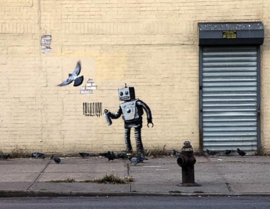 """Résultat de recherche d'images pour """"robot banksy pigeon"""""""