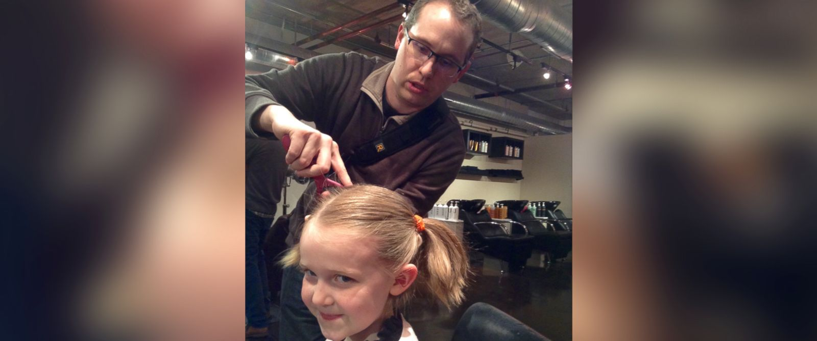 "PHOTO: Denver salon Envogue offers a ""beer and braids"" class so dads can learn how to style their daughters hair."