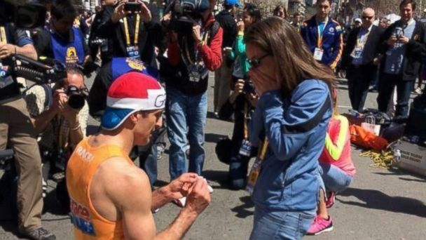 ht boston proposal kb 140422 16x9 608 Boston Marathon Proposal: Life Is Short And You Have to Embrace It to Its Fullest