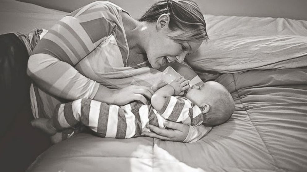 PHOTO: Brittnae and Mason. My hope is that through all of this I will somehow find a way to support new moms no matter what their choices are.