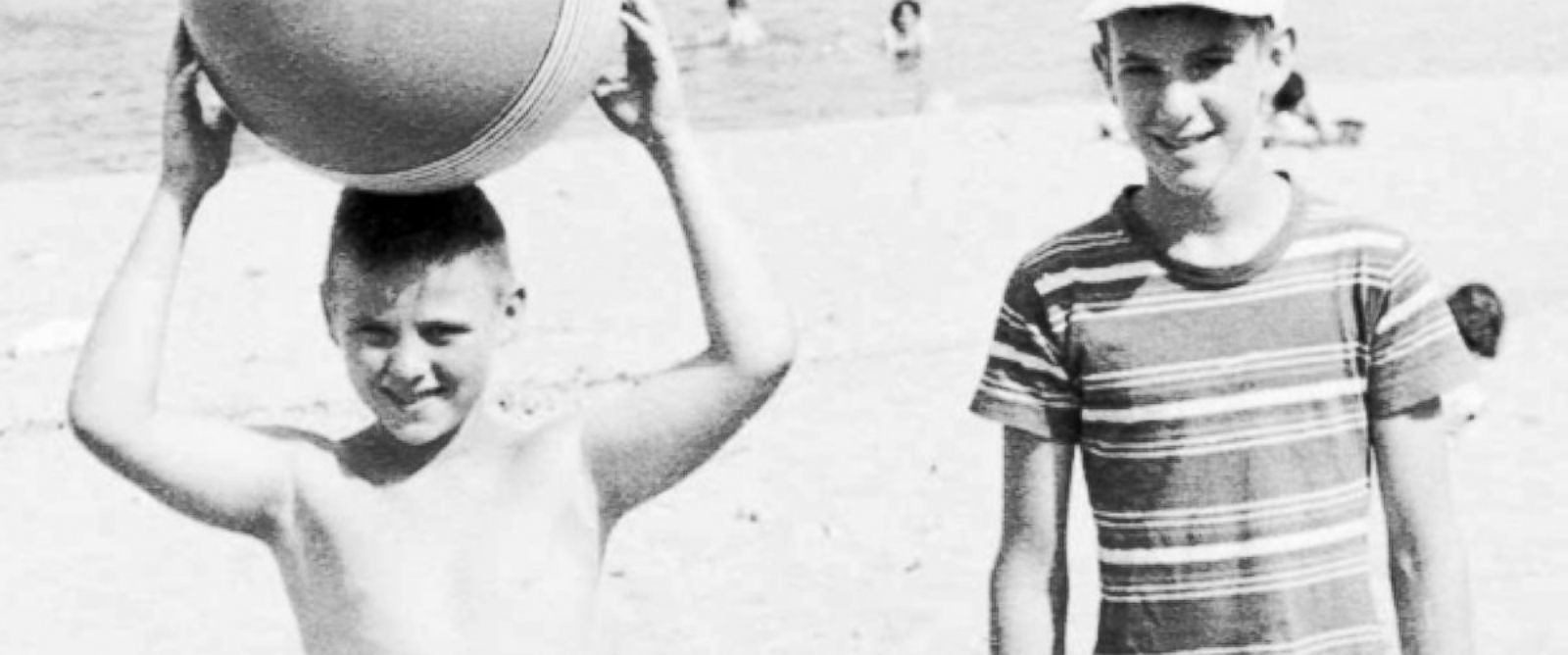 PHOTO: Ron Cole, left, and Duncan Cumming as children at an Ottawa beach in the 1950s.