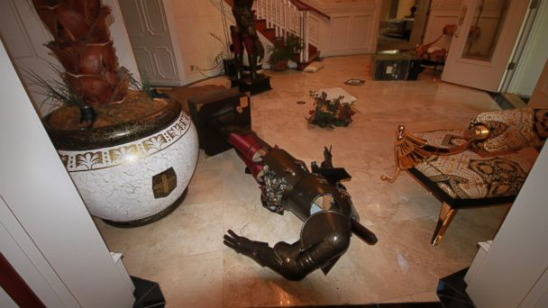 PHOTO: This entryway was damaged when teens broke into Nick Radois mansion and threw a party.