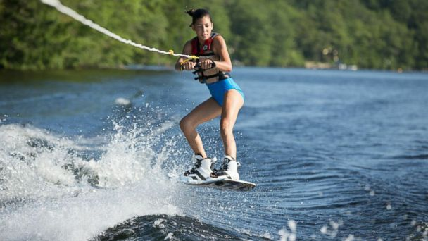 PHOTO: Campers at Camp Laurel on Echo Lake in Maine can engage in wakeboarding, surfing and sailing among other activities.