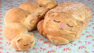 PHOTO: The final product is an adorable edible loaf of bread shaped like a cat, or as its commonly being called, a catloaf.
