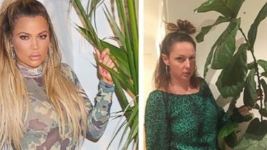 PHOTO: Australian actor, writer and comedian Celeste Barber recreates and pokes fun at celebrity Instagrams. Pictured: Barber poses as Khloe Kardashian in a photo posted to Kardashians account on April 25, 2016.