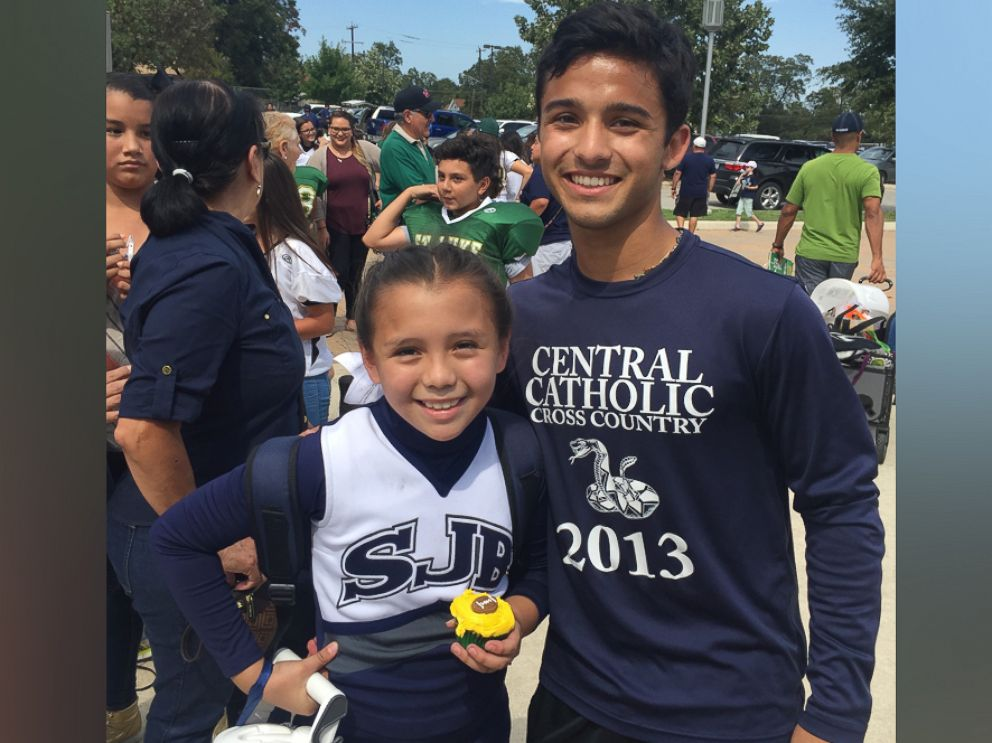 PHOTO: Matthew Garcia, 18, stepped in for Addie Rodriguez, 9, on Oct. 8 after her father couldnt make it to Parents Day.