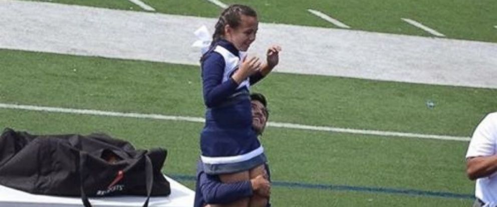 """PHOTO: Matthew Garcia, 18, stepped in for Addie Rodriguez, 9, on Oct. 8 after her father couldnt make it to """"Parents Day."""""""