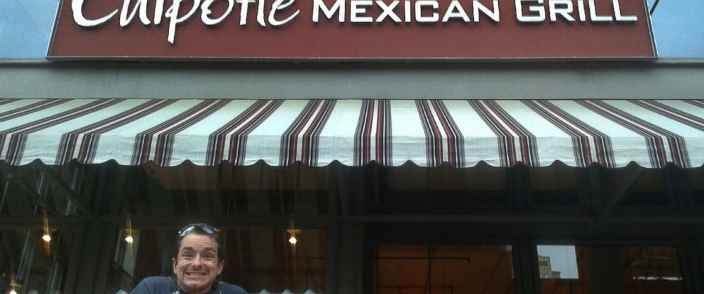 PHOTO: Mark Rantal has had the same meal at the same Chipotle for the last 103 days.