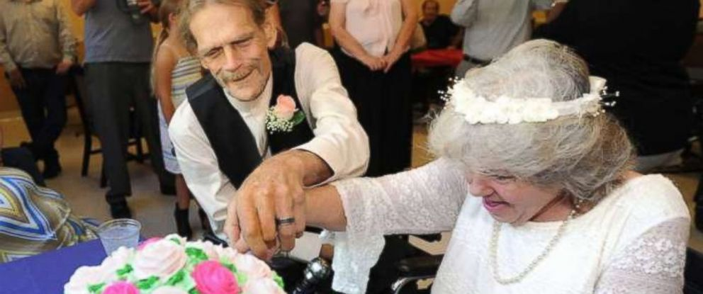 PHOTO: Debbie Rivera, 54, and John Whaley, 58 were married while in hospice.