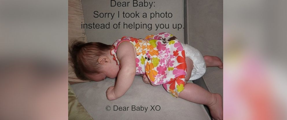 """PHOTO: Sarah Showfety posted this photo with the caption, """"Dear Baby: Sorry I took a photo instead of helping you."""""""