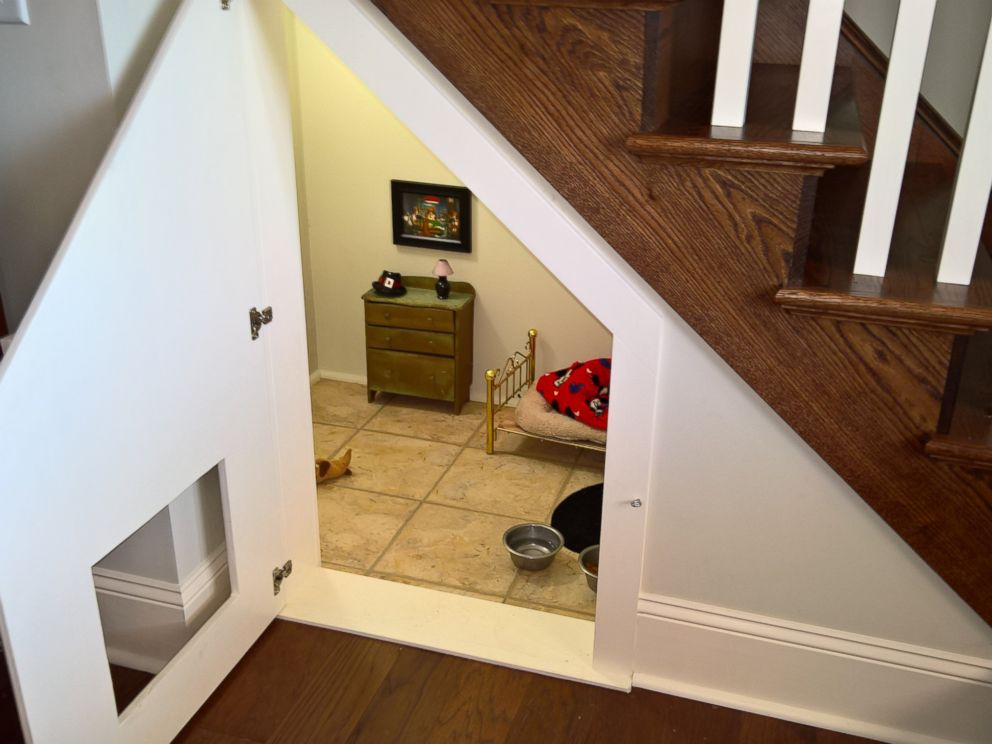 Chihuahua Has His Very Own Bedroom Under Woman 39 S Stairs