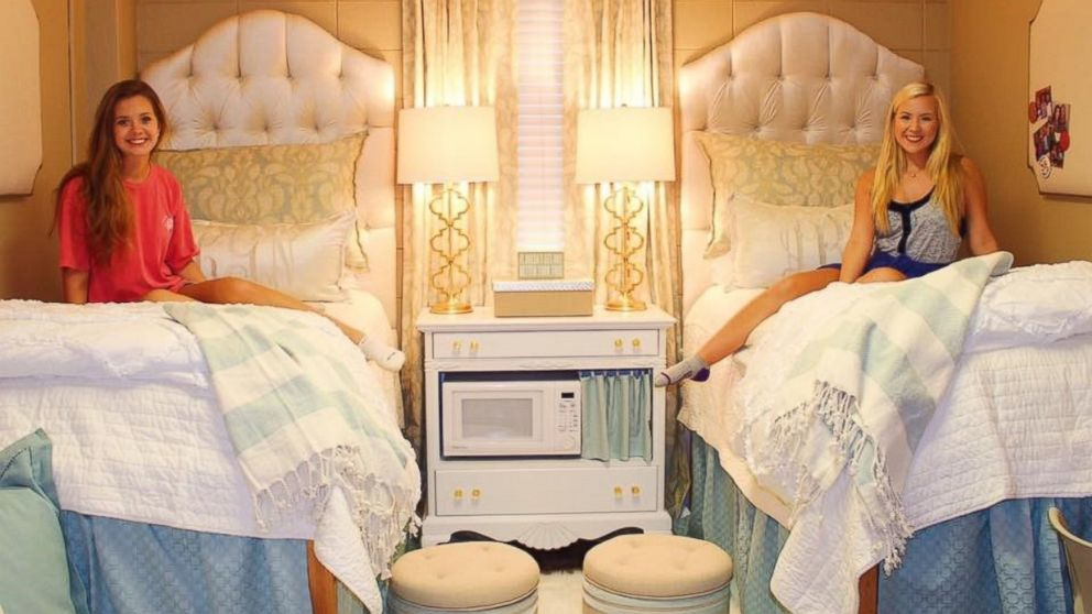 College Roommatesu0027 Ultra Chic Monogrammed Dorm Room Goes Viral   ABC News Part 78