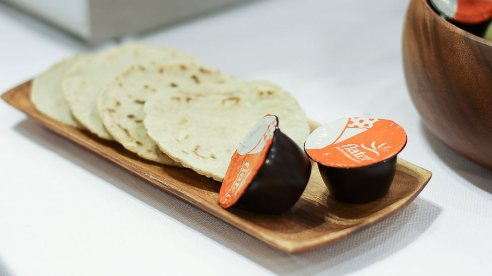 PHOTO: Flatev dough pods seek to do for flatbread tortillas what Keurig and Nespresso did for coffee.