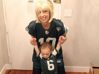 PHOTO: Elizabeth Mangan and one of her sons dressed up for Halloween in 2013.
