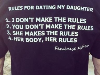 Dad's T-Shirt Outlines Rules for Daughter's Dating