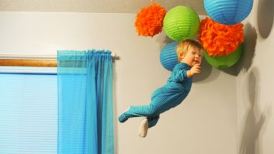PHOTO: Wil Lawrence is a 18-month-old toddler with Down syndrome. He is the subject of a photo series his dad, Alan Lawrence, created. Lawrence says Wil will be able to do anything he wants in life, even fly.