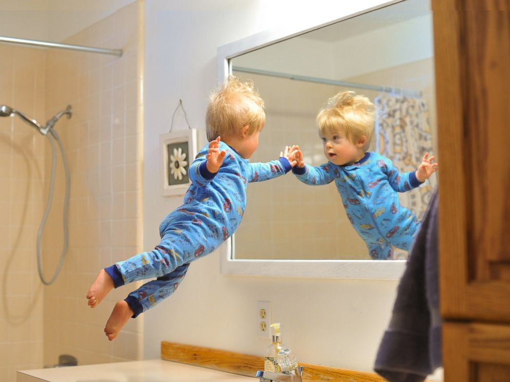 PHOTO: Wil checks himself out in the mirror first thing in the morning.