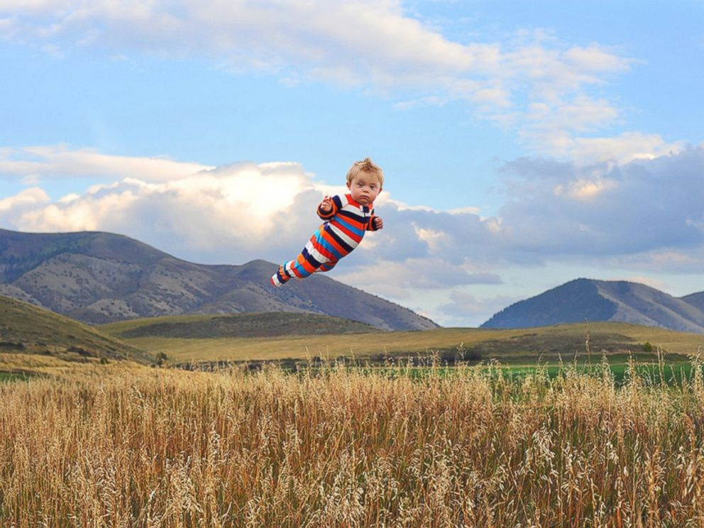 PHOTO: Will flies through the fields.