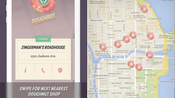 "PHOTO: According to the developers of Doughbot, the application is designed to help you find, ""old-school shops or hipster-hyped cronut purveyors."""