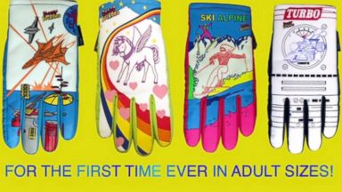 PHOTO: A crowd-funding campaign, Freezy Freakies gloves - Back from the 80s. Now for adults! has caught fire online.