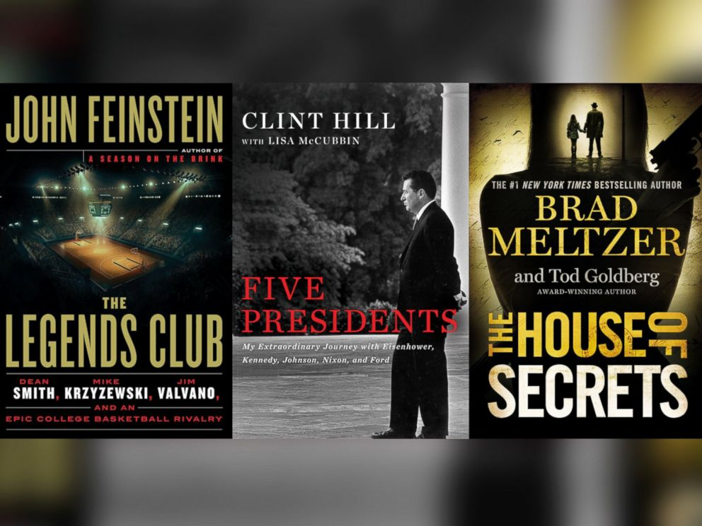 PHOTO: The Legends Club, by Jim Calhoun, Five Presidents, by Clint Hill, and The House of Secrets, by Brad Meltzer are on the GMA summer book list.