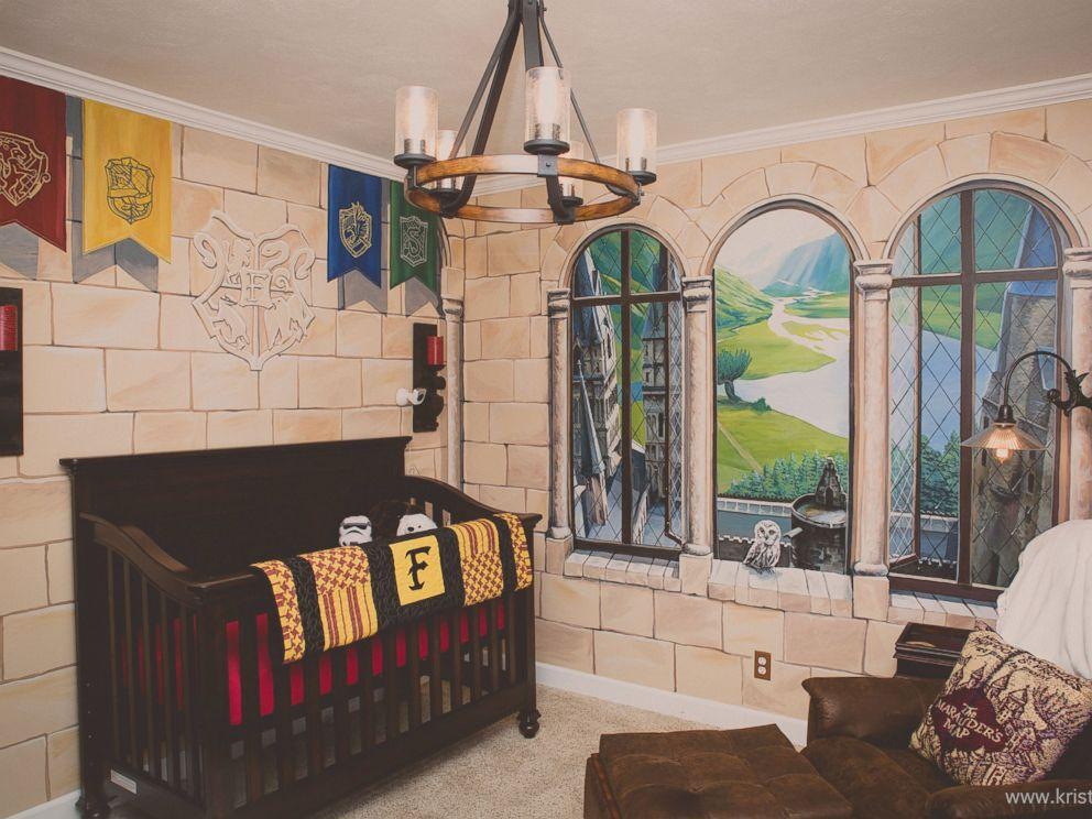 Harry Potter Loving Dad Creates Spellbinding 3 D Nursery