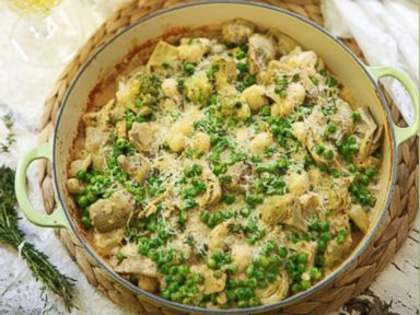 PHOTO: Cauliflower and Pea Gratin.