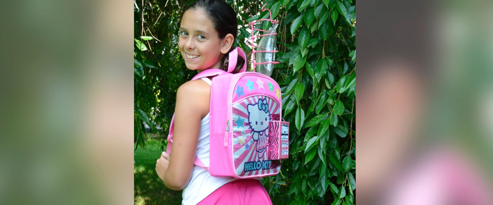 PHOTO: Kylie Simonds, 11, created a backpack for kids with cancer.