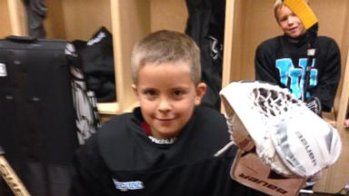 PHOTO: Jack Weaver stole the show at the Pittsburgh Penguins game Sunday night.