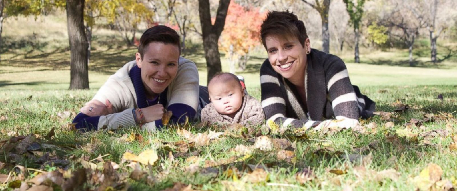 PHOTO: This fall family photo was taken when Jaxson was five months old. He is pictured with his parents, Holly and Alex Graham.