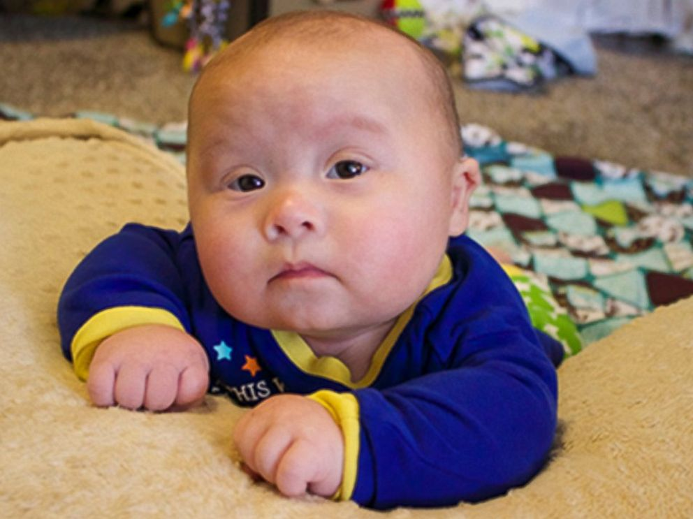 PHOTO: Jaxson at five months old in tummy time.