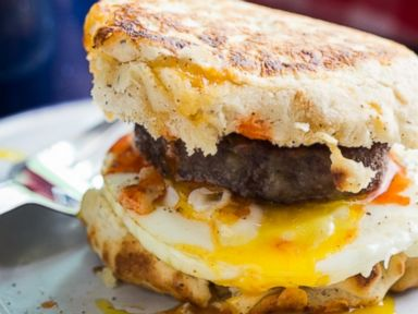 PHOTO: Campfire Breakfast Burger