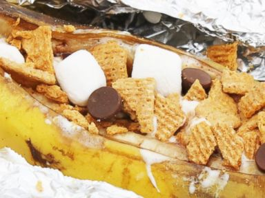 PHOTO: Campfire Smores Banana Boats